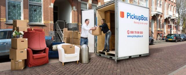 Jouw opslagbox thuisbezorgd door PickupBox