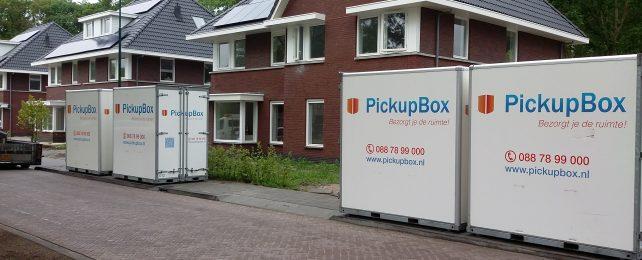 Opslagruimte Bilthoven, verhuiscontainer, verhuisbox huren, opslagcontainer voor de deur